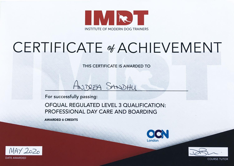 IMDT Certified